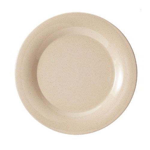 GET BAM-1010 10-1/2 in BambooMel Wide Rim Plate, Break Resistant, NSF
