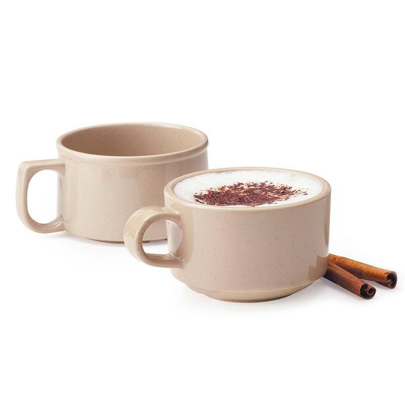GET BF-080-S 11 oz Soup Mug, Melamine, Sandstone
