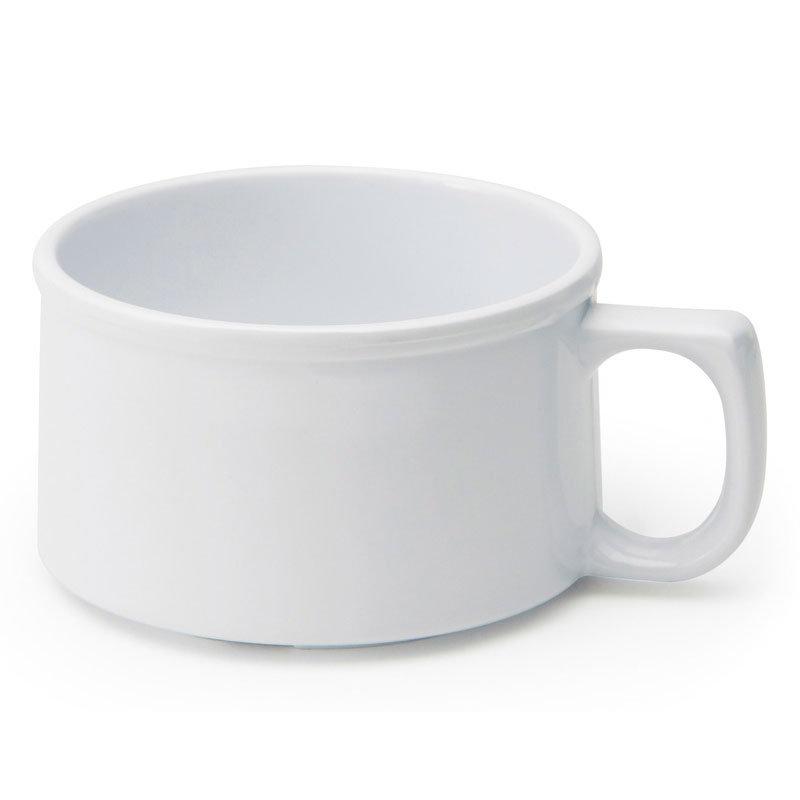 GET BF-080-W 11 oz Soup Mug, Melamine, White