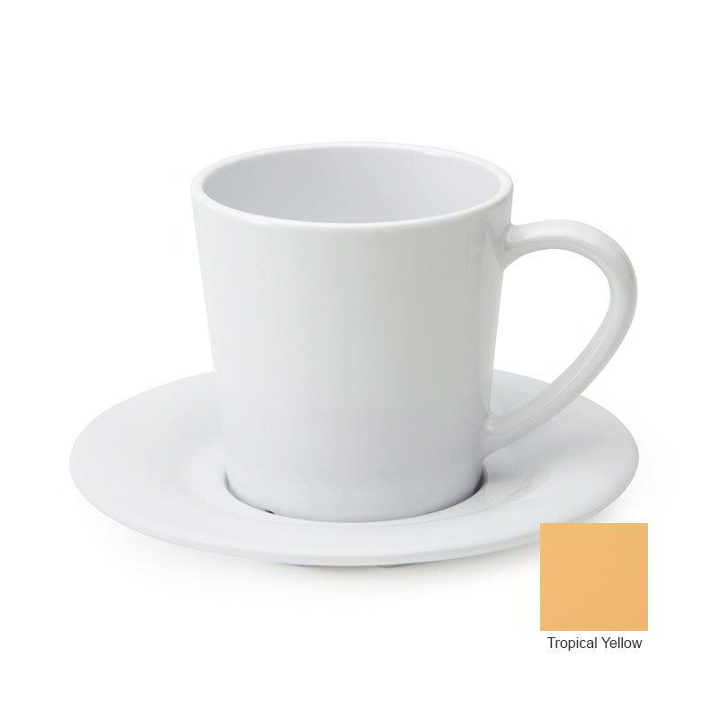 GET C-107-TY 7 oz Cup/Mug, Melamine, Tropical Yellow