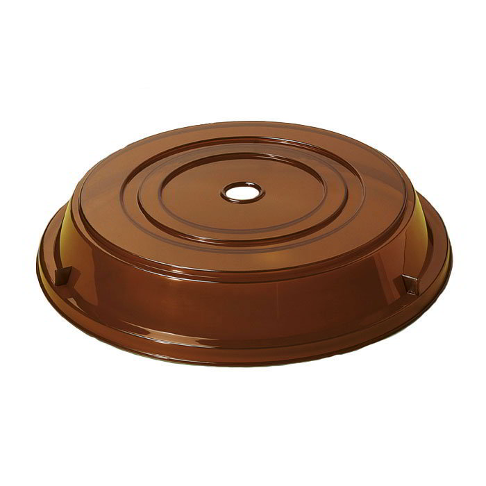 GET CO-90-A Cover For 8.25-in To 9-in Round Plates, Amber Polypropylene
