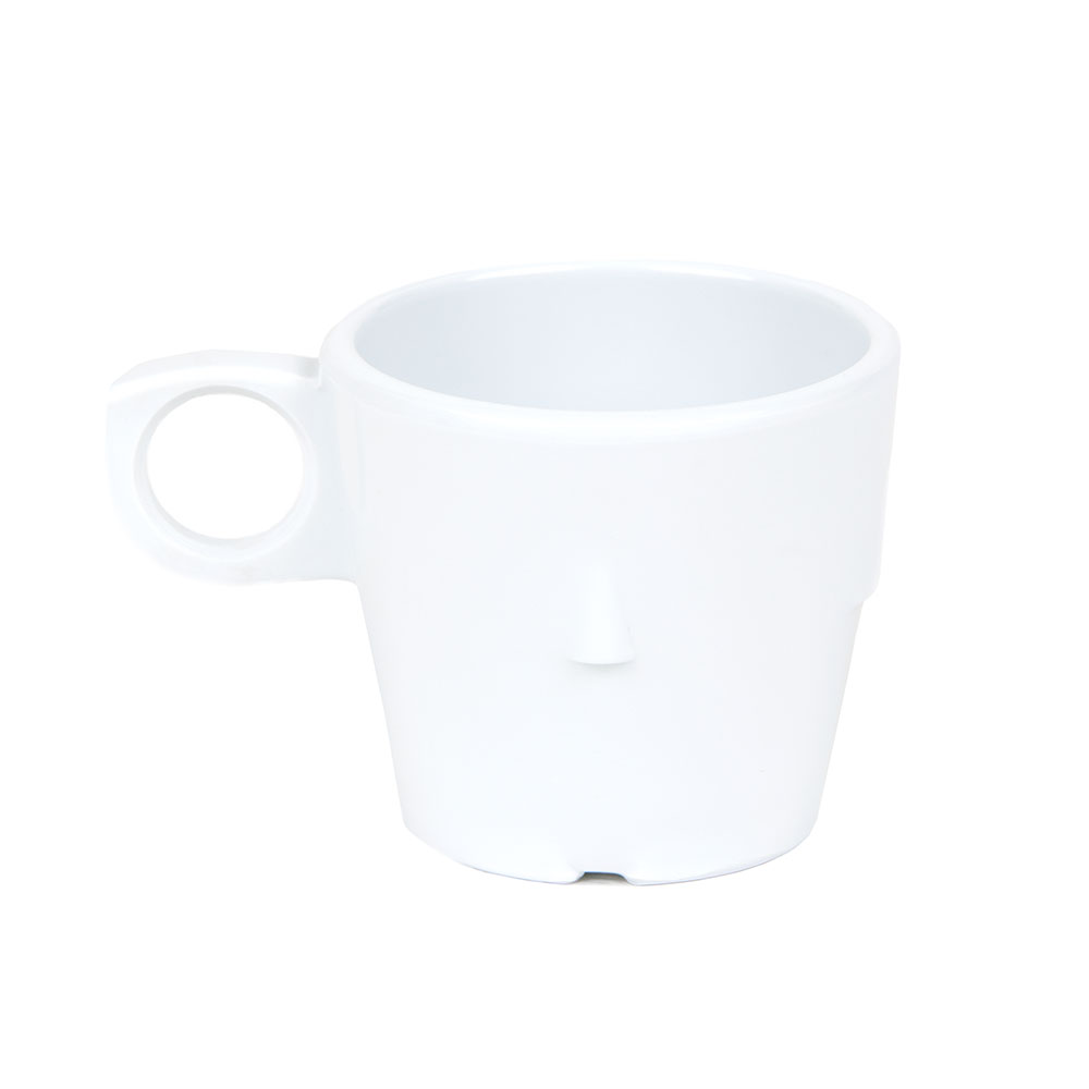 GET DC-101-W 7-1/2 oz Conic Stacking Cup, Melamine, White, Supermel