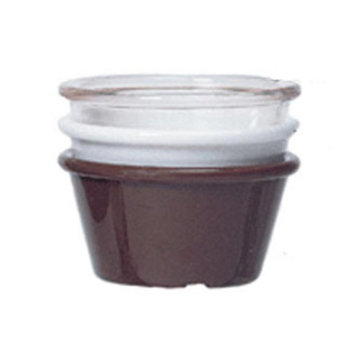 GET ER-025-BR 2-1/2 oz Ramekin, Plain, Melamine, Brown