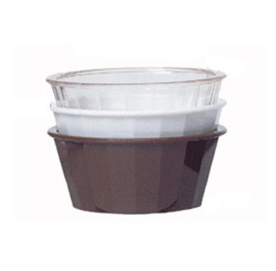 GET ER-045-BR 4 oz Ramekin, Fluted, Melamine, Brown