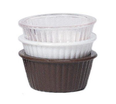 GET ER-402-BR 4 oz Ramekin, Fluted, Melamine, Brown