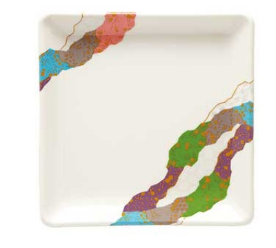 GET 252-18-CO 7-in Square Contemporary Melamine Dish