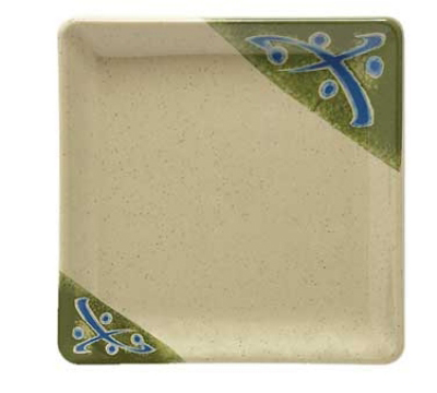 GET 252-18-TD 7-in Square Traditional Melamine Dish