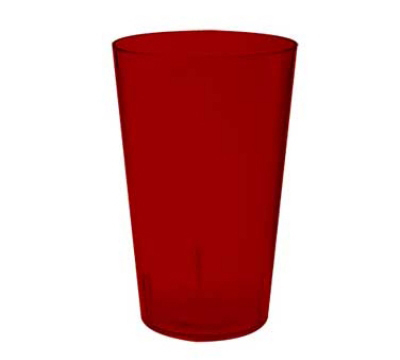 GET 5032-1-4-R 32-oz Short Stackable Tumbler, Textured, Red