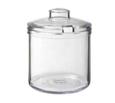 GET CD-8-2-CL 8-oz Plastic Condiment Jar & Cover, Clear