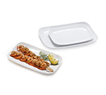 GET CS-6105-W Rectangular Break Resistant Platter, Melamine, White, 13x8-in