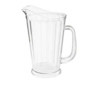 GET P-1064-CL 60-oz Beer Pitcher, 9-in Tall, Clear SAN