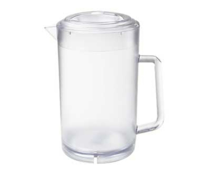 GET P-3064-CL 64-oz Water Pitcher, 7.5-in Diameter x 8.5-in Tall,