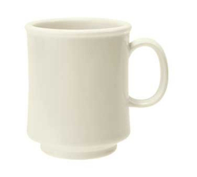GET TM-1308-IV 8-oz Diamond Ivory Stacking Mug, TRITAN