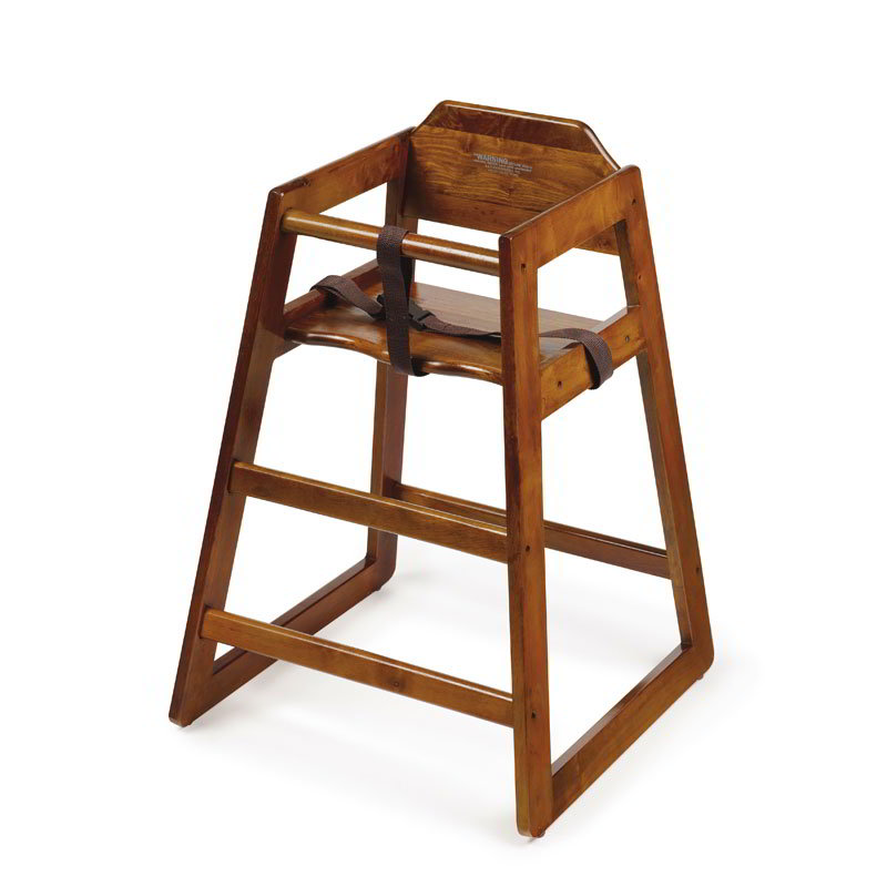 GET HC-100W-1 Assembled High Chair, Commercial Hardwood,