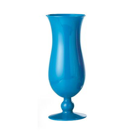 GET HUR-1-PC-BL 15-oz Hurricane Glass, 8-in Tall, Blue Polycarbonate