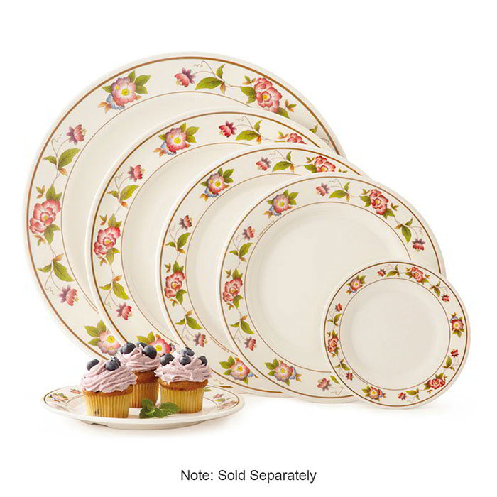 GET KT-415-TR 12 in Dinner Plate, Melamine, Dynasty Tea Rose