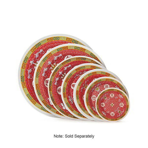 GET M-5080-L 9-1/2 in Dinner Plate, Melamine, Dynasty Longevity