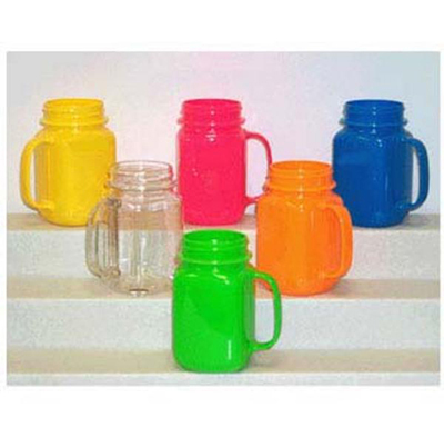 GET MAS-3-CL 16 oz Mason Jar, Polycarbonate, Clear