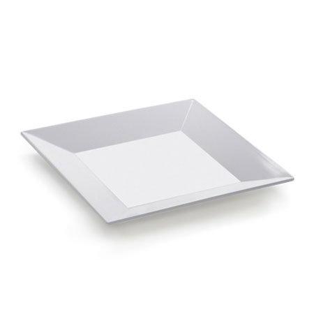GET ML-103-W Siciliano Plate, 8 x 8 in, Square, Melamine, White