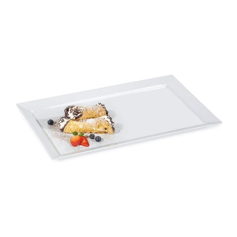 GET ML-116-W 17-3/4 in x 10-3/4 in Display Tray, Melamine, White