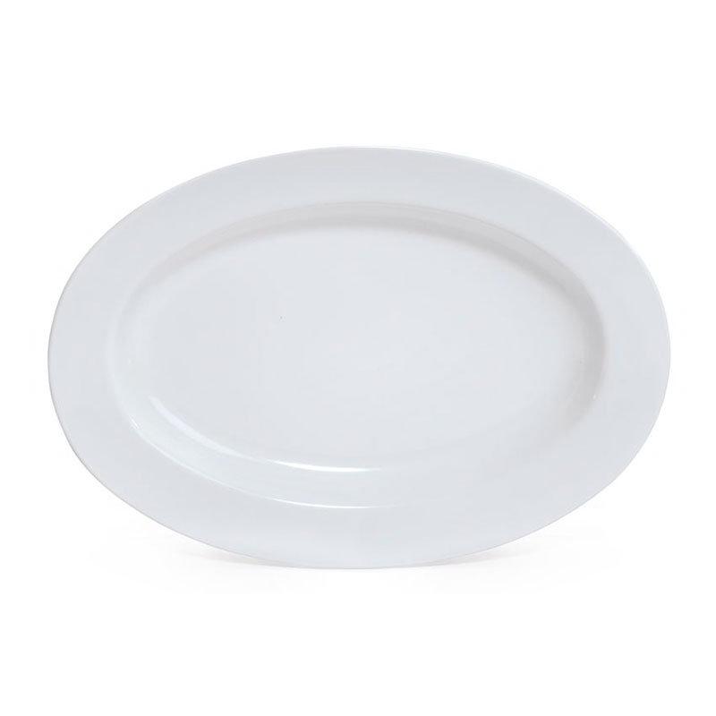 GET Enterprises ML-14-BK 17 in x12 in Oval Platter 1-1/2 in Deep Melamine Black Restaurant Supply
