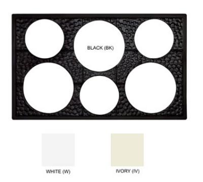 GET ML-161-W Tiles-Cut Outs, 6 Ho
