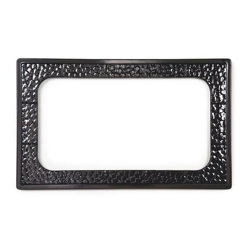 GET ML-163-BK Tiles-Cut Outs, Full Size w/ 1 Hole for ML-176, Melamine, Dishwasher Safe, Black