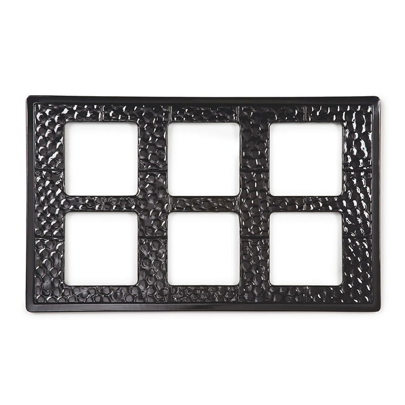 GET ML-164-BK Tiles-Cut Outs, w/ 6 Holes for ML-148, Square Crocks, Mel, Dishwash Safe, Black