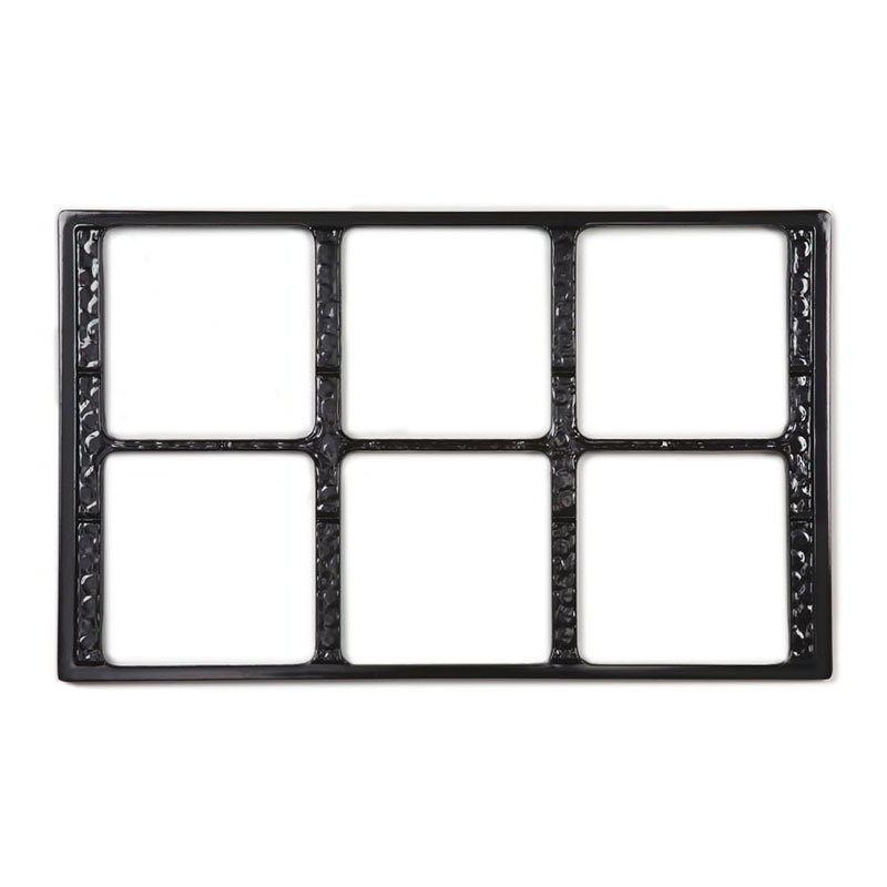 GET ML-168-BK Tiles-Cut Outs, w/ 6 Holes for ML-149, Square Crocks, Mel, Dishwash Safe, Black