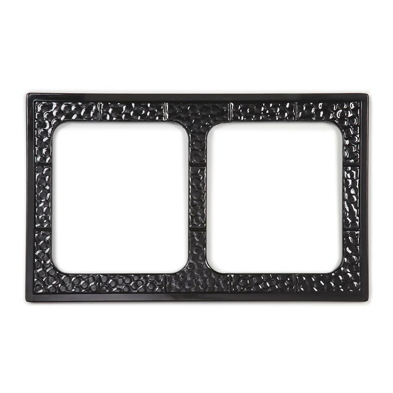 GET ML-169-BK Tiles-Cut Outs, w/ 2 Holes for ML-177, Square Crocks, Mel, Dishwash Safe, Black