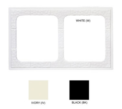 GET ML-169-W Tiles-Cut Outs, w/ 2 Holes for ML-177, Square Crocks, Mel, Dishwash Safe, White