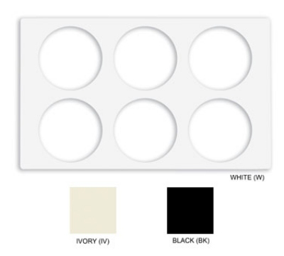 GET ML-171-IV Tiles-Cut Outs, w/ 2 Holes for CR-0120, Square Crocks, Mel, Dishwash Safe, Ivory
