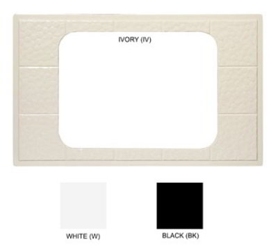 GET ML-174-BK Tiles-Cut Outs, Full Size w/ 1 Hole for ML-178, Melamine, Dishwasher Safe, Black