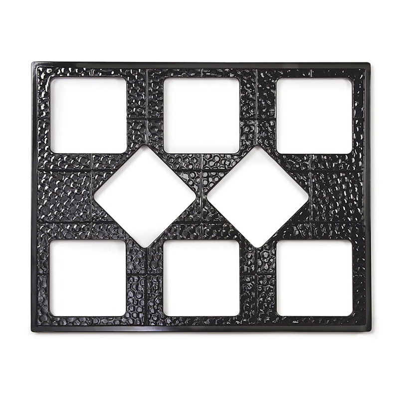 GET ML-175-BK Tiles-Cut Outs, 27 in, w/ 8 for ML-149, Square Crocks, Mel, Dishwash Safe, Black