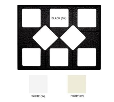 GET ML-175-IV Tiles-Cut Outs, 27 in, w/ 8 for ML-149, Square Crocks, Mel, Dishwash Safe, Ivory