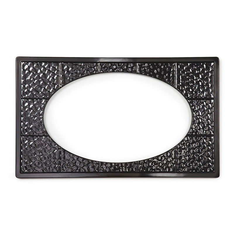 GET ML-192-BK Tiles-Cut Out, w/ 2 Holes for ML-183 or 184, Melamine, Dishwasher Safe, Black