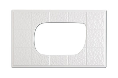 GET ML-221-W Tiles-Cut Out, For ML-219 & ML-220, Melamine, White