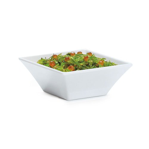 GET ML-238-W Siciliano Square Bowl, 5 in x 2-1/4 in Deep, Melamine, White