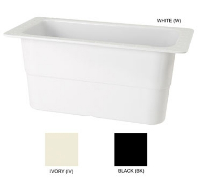 GET ML-23-W Food Pan, 12-3/4, 6 in Deep, Heat Up To 212 Degrees, Melamine, White