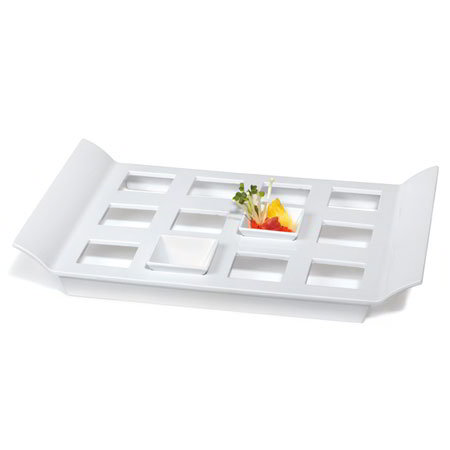 GET ML-292-W Rectangular Tray w/ 12-Square Slots, 18 x 13-in, Melamine, White