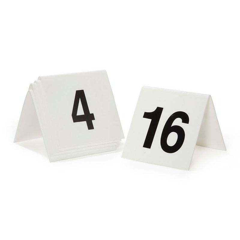GET NUM-51-75 Table Tent, Numbers 51 Through 75 (1 Set)
