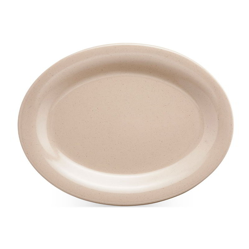 GET OP-120-S 12 in x 9 in Oval Platter, Melamine, Sandstone