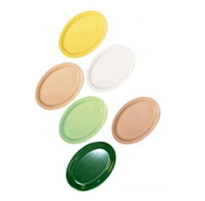 GET OP-614-W 13-1/4 in x 9-5/8 in Oval Platter, White, Melamine, Supermel