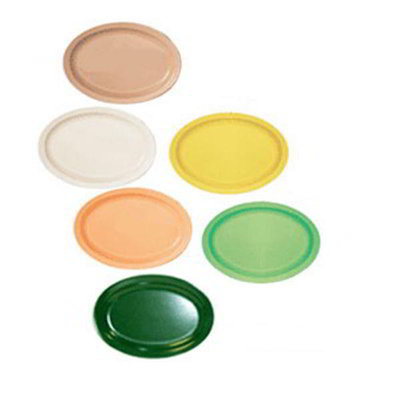 GET OP-616-T 15-5/8 in x 10-7/8 in Oval Platter, Tan, Melamine, Supermel