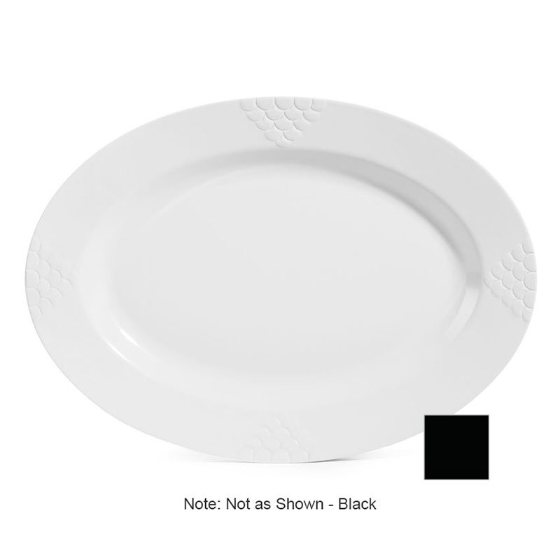 GET Enterprises OP-624-BK 24 in Oval Platter Melamine Black Restaurant Supply