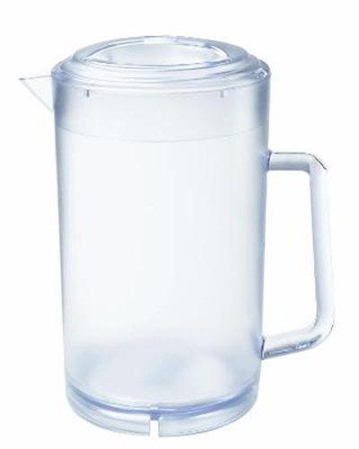 GET P-3064-CL 64 oz Water Pitcher w/Lid, SAN Plastic, Clear