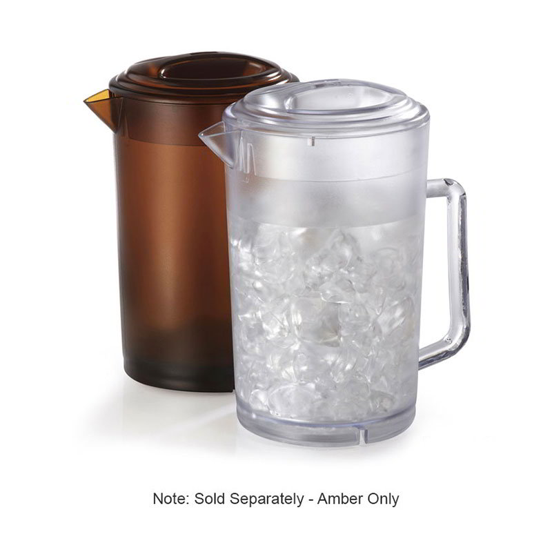 GET P-3064-A Water Pitcher, with Lid, 64 oz, SAN, Amber