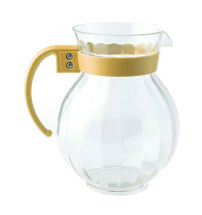GET P-4091-PC-TY 90-oz Tahiti Pitcher w/ Tropical Yellow Handle, Clear Polycarbonate