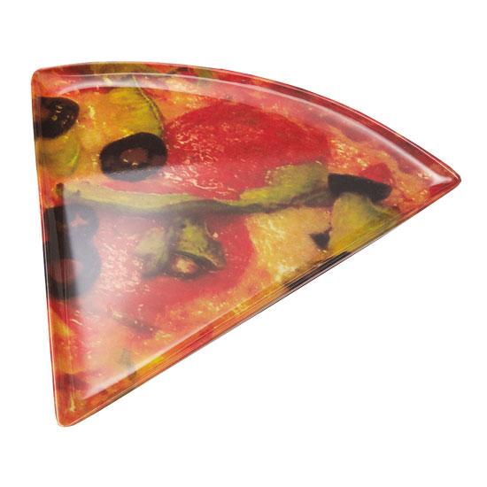 GET PZ-85-PZ Mama Mia Triangle Pizza Plate, 8.5 x 9-in, Melamine
