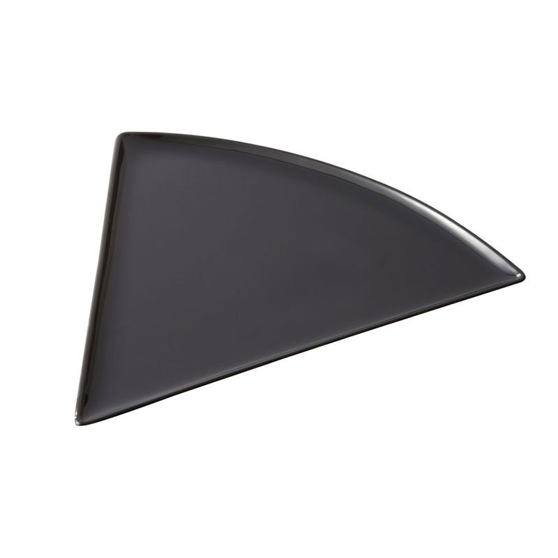 GET PZ-85-BK Pizza Plate, 8-1/2 x 9 in, Triangle, Mel,